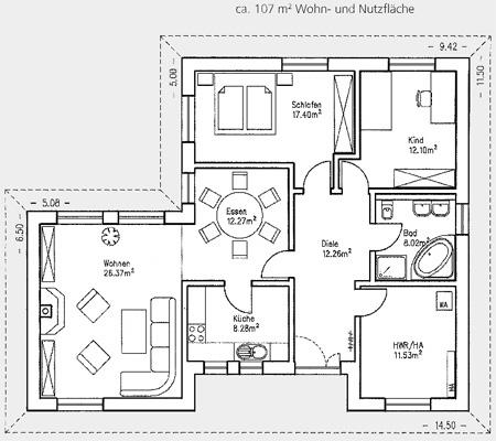 winkel bungalow br ssel 107 quadratmeter. Black Bedroom Furniture Sets. Home Design Ideas